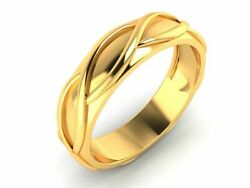 22k Ring Solid Yellow Gold Ladies Jewelry Modern Double Twist Pattern Cgr8