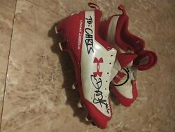Utah Utes Under Armour Autographed Football Cleats Darrell Mack 6 Running Back