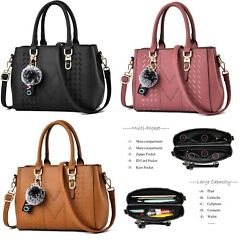 Women Handbag Shoulder Tote Bag Leather Crossbody Ladies Messenger Satchel Purse $21.99