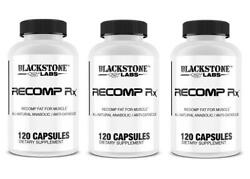 Blackstone Labs Recomp Rx Muscle Anabolic Anti-catabolic 3 Bottles