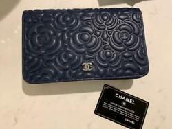 Coco Mark Chain Wallet Camellia Navy M13963435310 Pre-owned From Japan