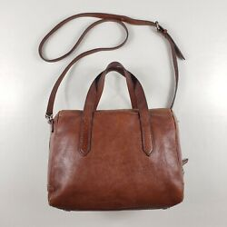 Fossil Original Style Sydney Satchel Crossbody Leather Handbag ZB5486 Brown GUC $129.99
