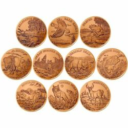 20 Coin Roll American Wildlife Series 1 Oz .999 Copper Bu Rounds