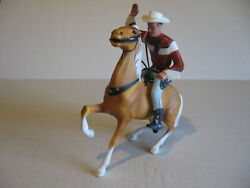Hartland Roy Rogers And Semi-rearing Horse Trigger W/cowboy Hat And 2 Pistol
