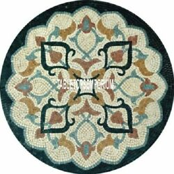 24and039and039 Italian Art Marble Center Round Table Top Mosaic Stone Inlay Interior Decor
