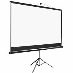 100 Inch Tripod Projector Screen with Stand 16:9 Projection Screen Watch Movie
