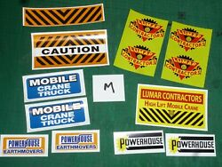 Louis Marx And Co Powerhouse Mobile Crane Truck Replacement Sticker Selection M