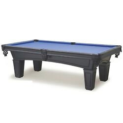 Shadow 7and039 Slate Pool Table With Black Finish