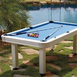 7' St. Croix Outdoor Pool Table - Accessories Included