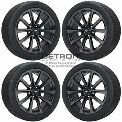 19 Ford Mustang Pvd Black Chrome Wheels Rims And Tires Oem Set 4 2015-2019 1...