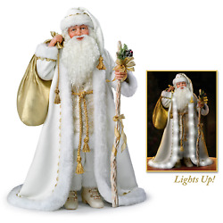 Illuminated White Christmas Santa Doll With Music By The Bradford Exchange