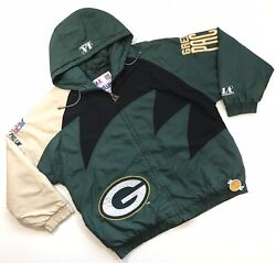 Vintage 90s Logo Athletic Green Bay Packers Puffer Jacket Xl Pro Line Sharktooth