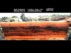 Redwood Burl Source River Table   Live Edge Table } Old Growth Redwood - Bsz905