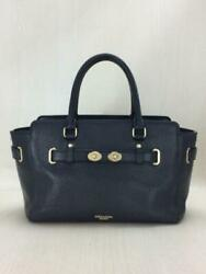 COACH Strap Shor e Leather Nvy F55665 Navy Bag 2767 Fashion item from Japan $230.80