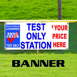 Smog Check Test Only Station Customize Novelty Indoor Outdoor Vinyl Banner Sign