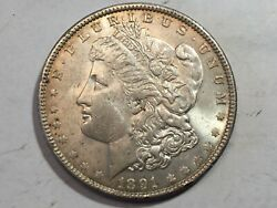 1891-p Au Unc Morgan Silver Dollar Date From Album Collection Choice M12