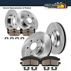 Front And Rear Premium Oe Brake Rotors And Ceramic Pads For Audi A6 A7 Quattro