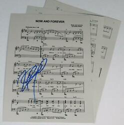 Richard Marx Signed Autograph Auto Now And Forever Sheet Music
