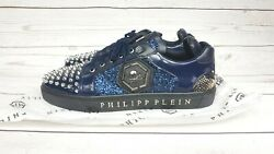 Philipp Plein Limited Edition Shoes Mens 44 Stud Spikes Leather/snake Skin Rare