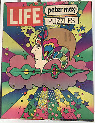"""Rare Vintage- 1970 Peter Max """"drummer"""" Life Boxed 500 Pc Psychedelic Puzzle Drum"""
