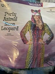 Halloween Costume NEW Party Animal Neon Leopard Small or Large Women#x27;s