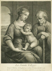 200 Yr Old Engraving From The Fogg Museum Jacques Chereau La Sainte Vierge