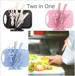 New Stainless Steel Set Two In One Cooking Kitchen Tools Knife And Cutting Board