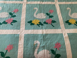 Full Size Quilt. Homemade Applique. Homemade Quilt. Sixty Years Old. Never Used