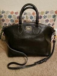 Dooney Bourke Pebble Leather Black Satchel Shoulder Bag $50.00