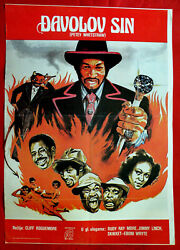 Petey Wheatstraw 1977 Rudy Ray Moore Jimmy Lynch Devil Unique Exyu Movie Poster