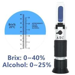 Refractometer Concentration Aluminum Alcohol Beer Temperature Compensation Tools