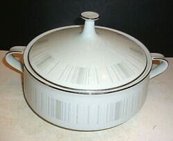 Noritake Isabella 11 With Handles Oval Serving Bowl With Lid 6531 Japan