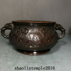 Old China Antique The Ming Dynasty Red Copper Elephant Ear Stove