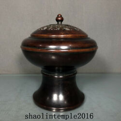 Old China The Ming Dynasty Red Copper Bat Pattern Fumigation Oven