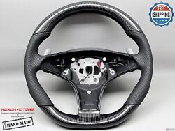 Mercedes R230 Sl63 Sl550 W219 Cls63 Cls550 Perforated Carbon Steering Wheel V1