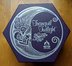 Teavana Tranquil Twilight Tea Collection Five 2 Oz. Packs Tins And Candle