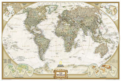 National Geographic Poster Size World Wall Map