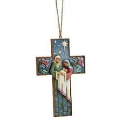 Heartwood Creek Hanging Ornaments - Holy Family Cross