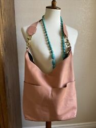 Clare V. Salmon Sophie Leather Hobo Bag $445 SOFT Leather EUC $160.00