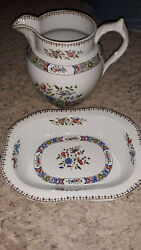 Copeland Late Spode Pitcher And Under Plate England