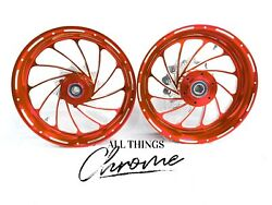 Yzf 240 Fat Tire Candy Red Contrast Turbo Wheels 2004-2008 Yamaha Yzf R1