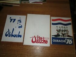 Lot Vintage Wabash Valley College Oubache Yearbooks Mt Carmel Il 1972 1976 1977