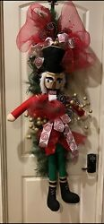 Nutcracker Christmas Hanging Swag Soldier 5ft Tall
