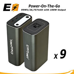 9 X Portable Power Station 110v/100w And Type-c Pd For Laptops And Camping