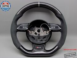 Audi Rs4 Rs5 Rs6 Rs7 Rs3 S5 S4 S3 Silver Ring Alcantara Carbon Steering Wheel V1