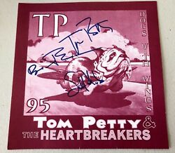 Rare Tom Petty And The Heartbreakers Signed Backstage Sign W/ Set List 1995 Tour