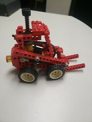 Red Lego Kinetic Bobcat Forklift Toy Model With Hydraulics