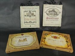 Lot Of 4 Wall Hanging Plaques France Home Decor Two 6 X 9 And Two 6 X 8