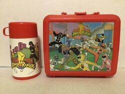 Vintage Saban Aladdin Mighty Morphin Power Rangers Lunch Box Thermos 1994