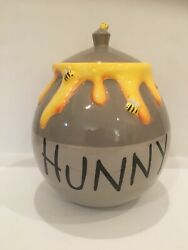 New Disney Authentic Winnie The Pooh Hunny Cookie Jar Honey Pot With Bees